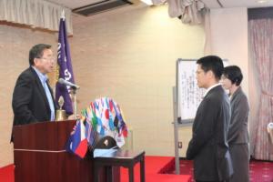 会長 L小野田 良夫   歓迎の挨拶